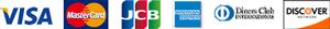 製品ムラ染めディープマリンブルー:札ケース(長財布)の支払いに対応しているクレジットカード