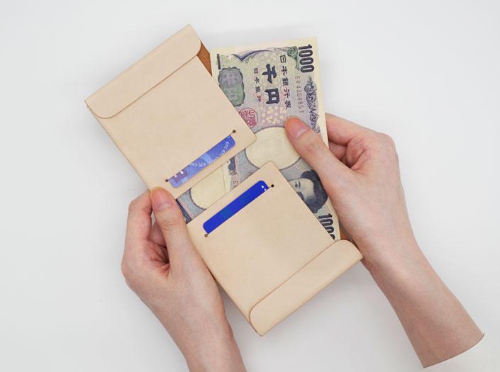 二つ折り財布の使用イメージ