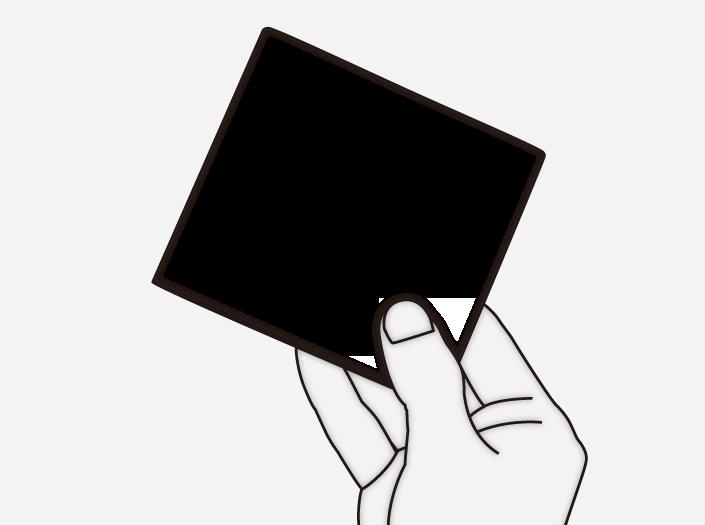 限定札ケース(二つ折り財布)のイラスト