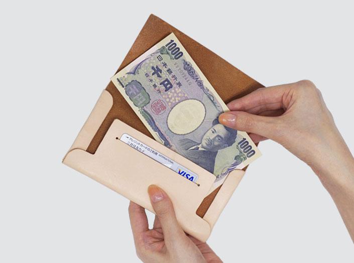 長財布の使用イメージ