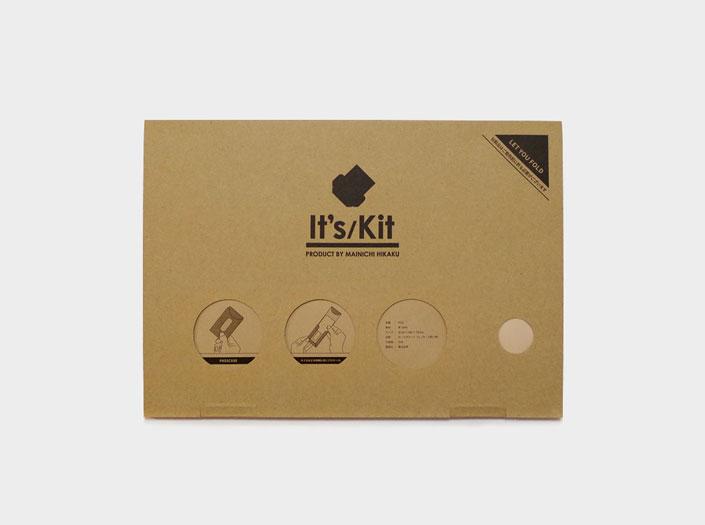 製品染めディープレッド:パスケースの通常パッケージ