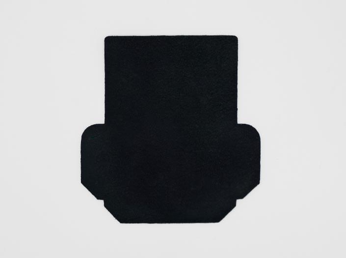 製品ムラ染めネイビーブルー:カードケースの裏面