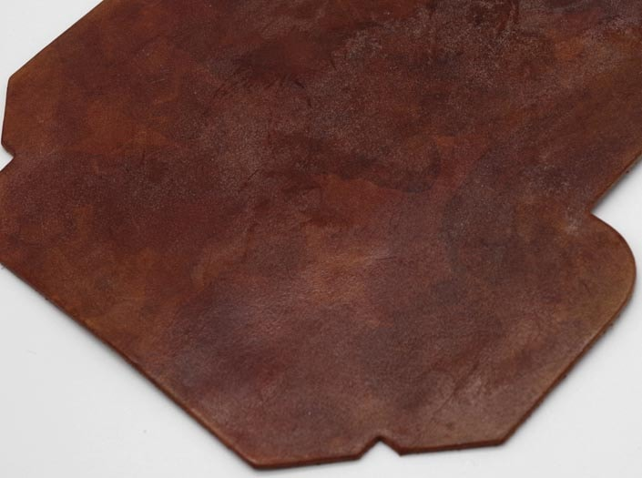 製品染めアンティークブラウン+ワックス仕上げ:カードケースのディテール