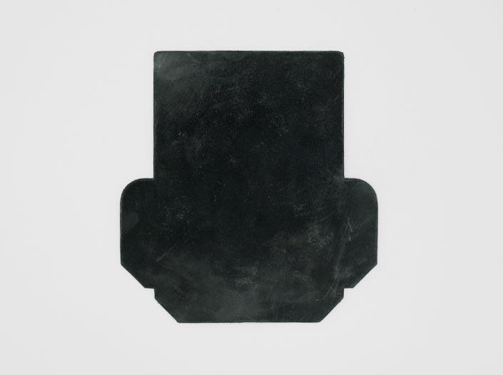 製品染めディープグリーン+ワックス仕上げ:カードケースの表面