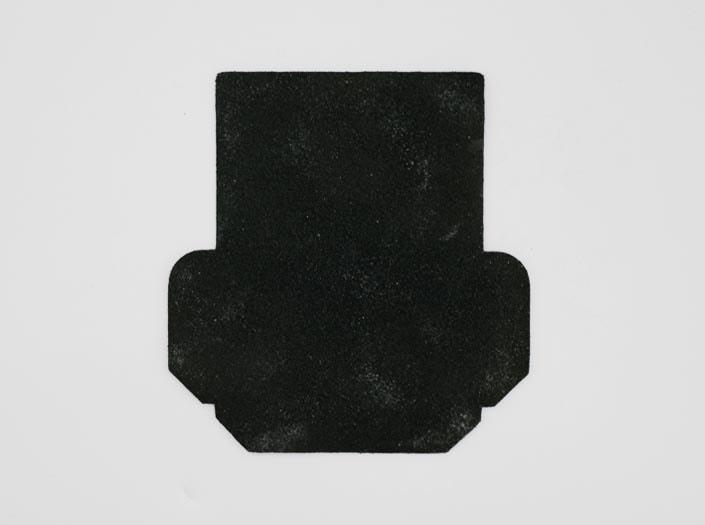 製品染めディープグリーン+ワックス仕上げ:カードケースの裏面