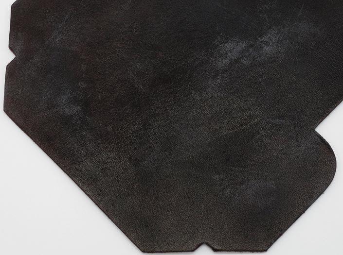 製品ムラ染めダークブラウン:カードケースのディテール