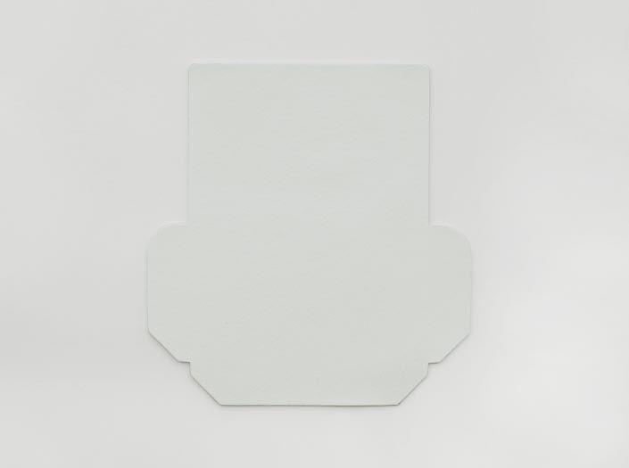 ホワイトレザー:カードケースの表面