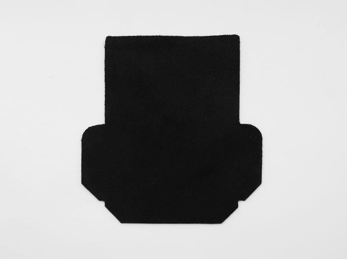 ホワイト×ブラック「0098」:カードケースの裏面