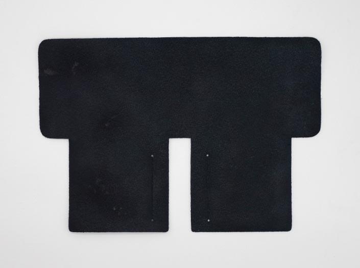 製品ムラ染めネイビーブルー:札ケース(二つ折り財布)の裏面