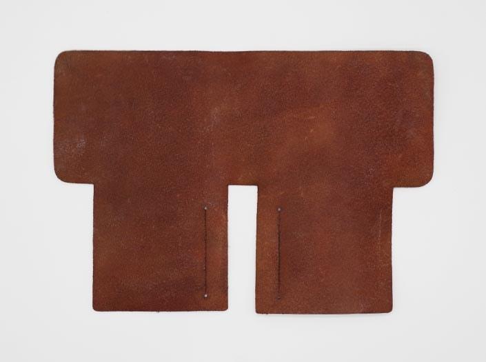製品染めアンティークブラウン+ワックス仕上げ:札ケース(二つ折り財布)の裏面