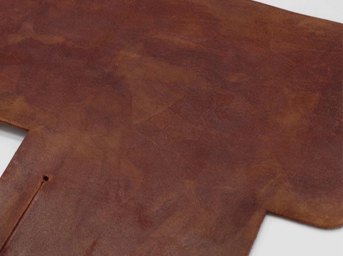 製品染めアンティークブラウン+ワックス仕上げ:札ケース(二つ折り財布)のディテール
