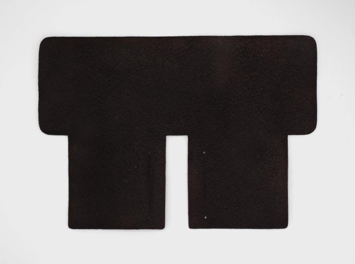 製品染めダークブラウン:札ケース(二つ折り財布)の裏面