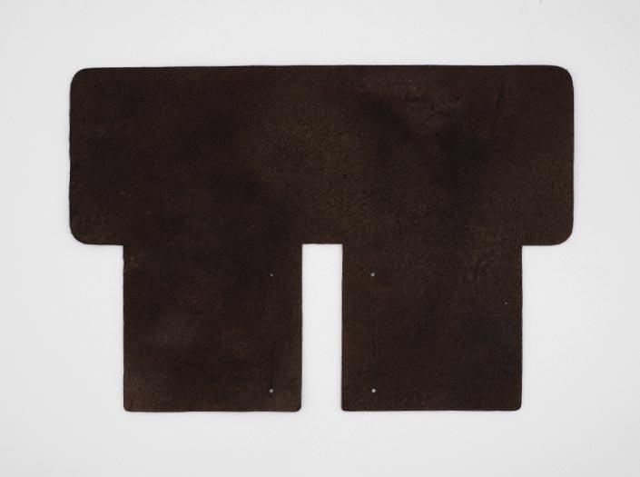 製品ムラ染めブラウン:札ケース(二つ折り財布)の裏面