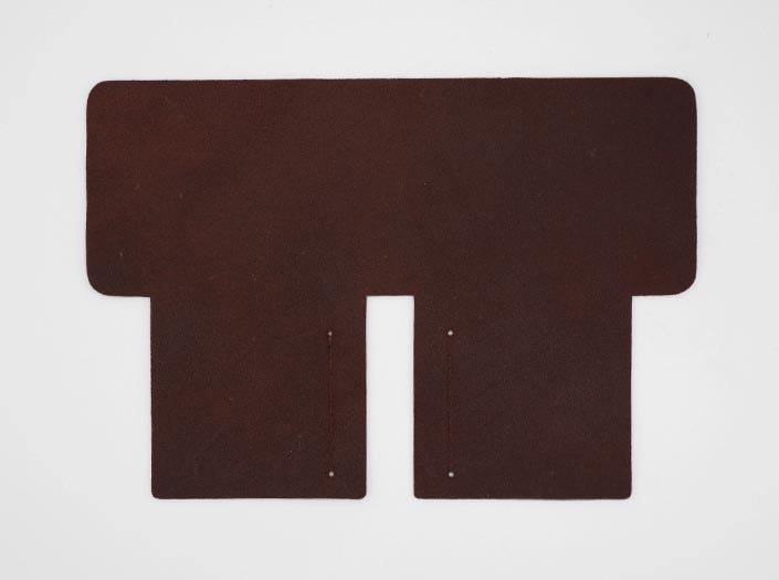 オイルド×ナチュラル:札ケース(二つ折り財布)の裏面