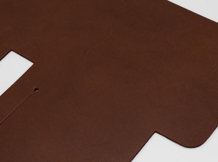 オイルド×ナチュラル:札ケース(二つ折り財布)のディテール