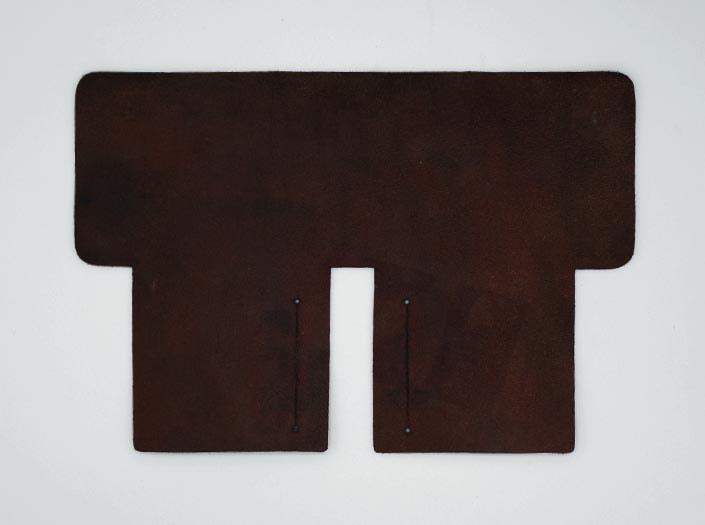 製品ムラ染めディープブラウン:札ケース(二つ折り財布)の裏面