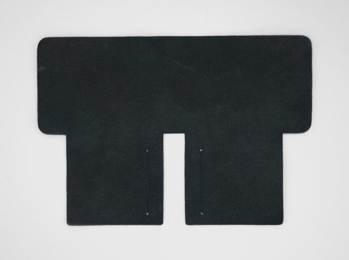 製品染めスペースブルー:札ケース(二つ折り財布)の裏面