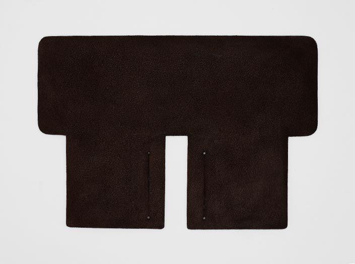製品染めグリーン×ブラウン:札ケース(二つ折り財布)の裏面