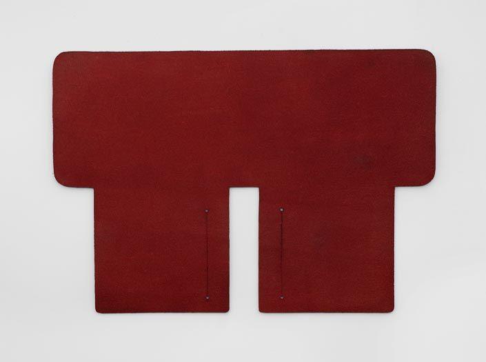 製品染めブリックレッド:札ケース(二つ折り財布)の裏面