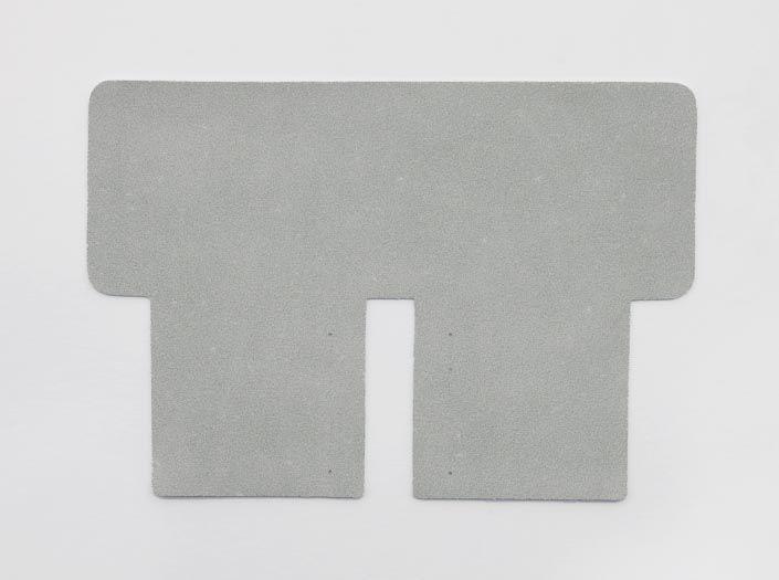 ホワイトレザー:札ケース(二つ折り財布)の裏面