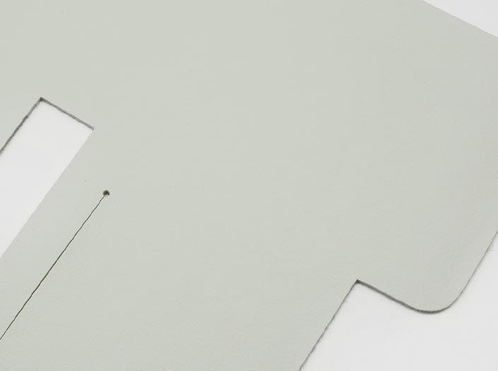 ホワイトレザー:札ケース(二つ折り財布)のディテール