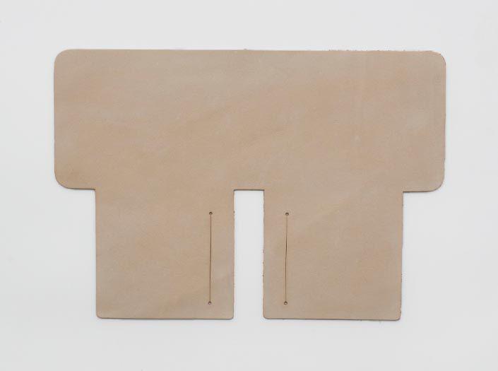 ヌメ革タンロー:札ケース(二つ折り財布)の表面