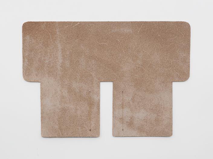 ヌメ革タンロー:札ケース(二つ折り財布)の裏面