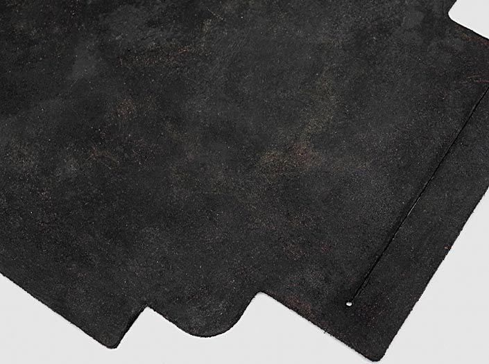 スクラッチ加工×ブラック:札ケース(長財布)のディテール