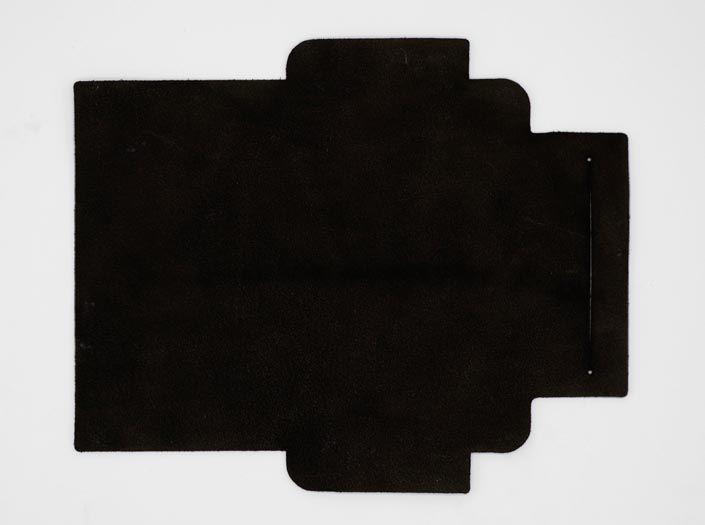 凸凹パターン×ブラック:札ケース(長財布)の裏面