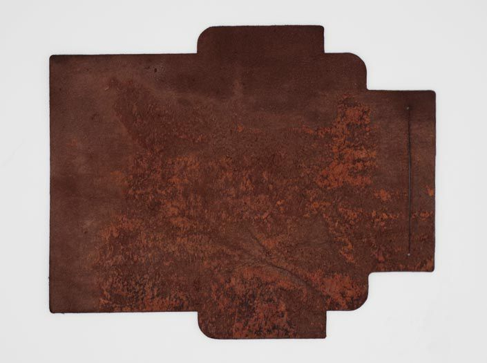 製品ムラ染めダークブラウン+ワックス仕上げ:札ケース(長財布)の裏面