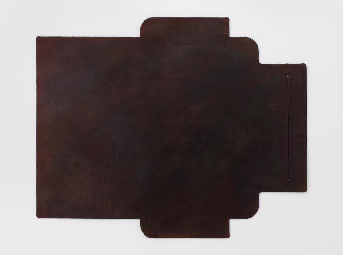 製品ムラ染めブラウン:札ケース(長財布)の表面