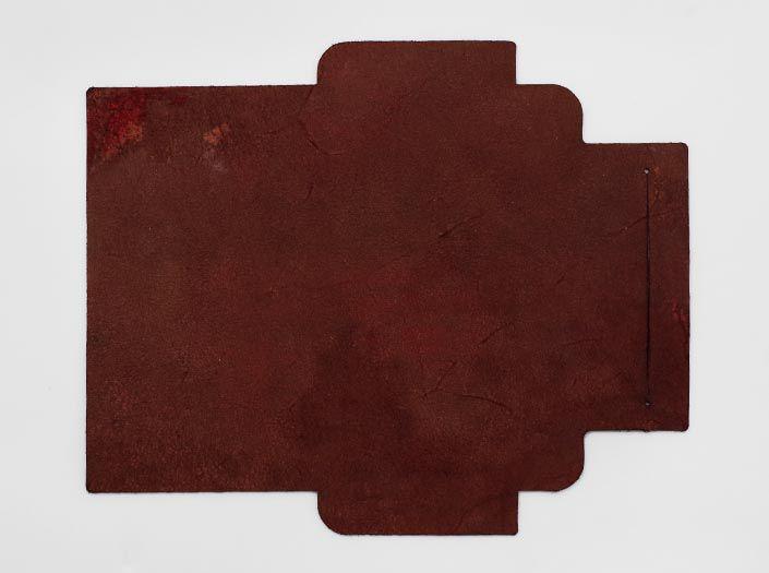 製品ムラ染めブラウン:札ケース(長財布)の裏面