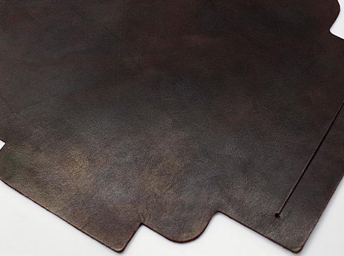 製品ムラ染めブラウン:札ケース(長財布)のディテール