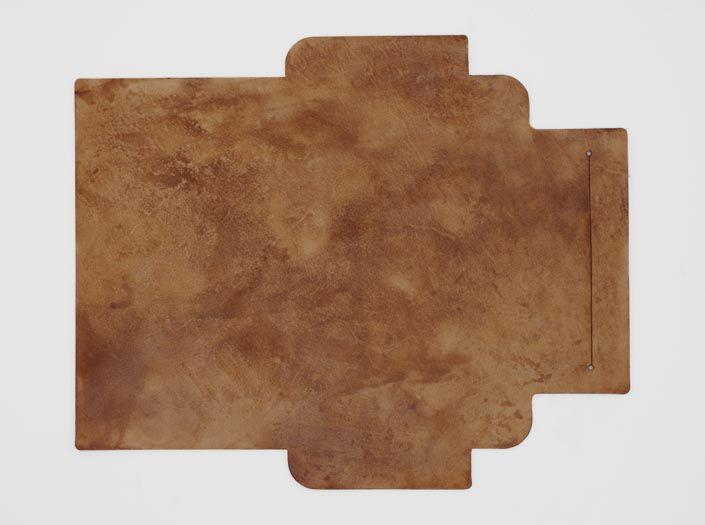 ビーズワックス×ナチュラル:札ケース(長財布)の表面