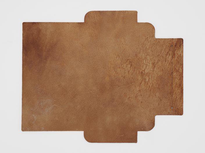 ビーズワックス×ナチュラル:札ケース(長財布)の裏面