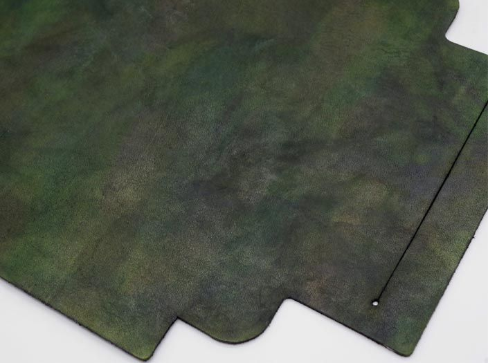 迷彩染めグリーン:札ケース(長財布)のディテール