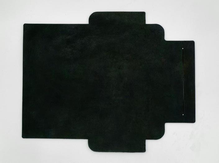迷彩染めディープグリーン:札ケース(長財布)の表面
