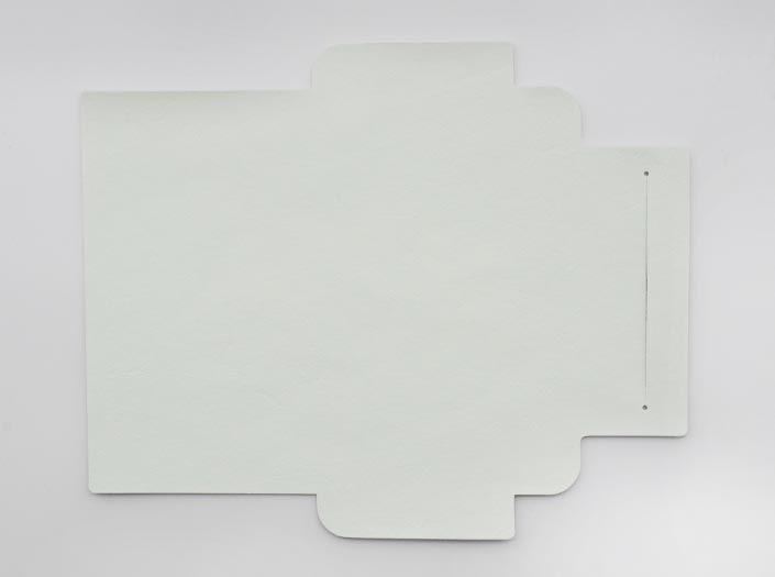 ホワイトレザー:札ケース(長財布)の表面