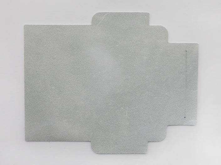 ホワイトレザー:札ケース(長財布)の裏面