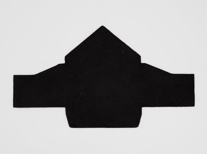 製品染めマットブラック:マルチケースの裏面