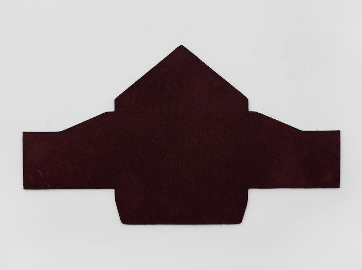 製品染めダークパープル:マルチケースの裏面