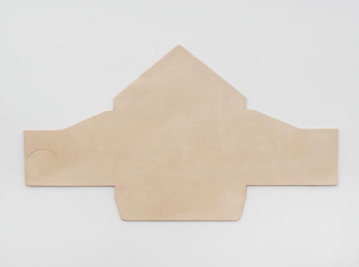 ヌメ革タンロー:マルチケースの表面