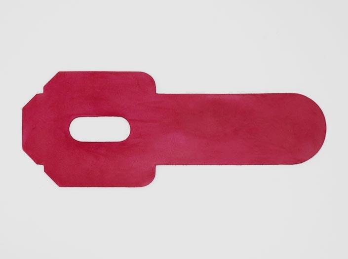 製品染めピンク:パスケースの表面