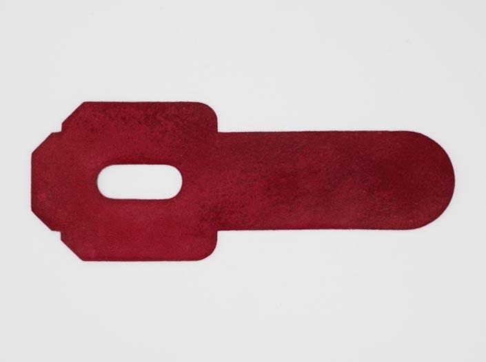 製品染めピンク:パスケースの裏面