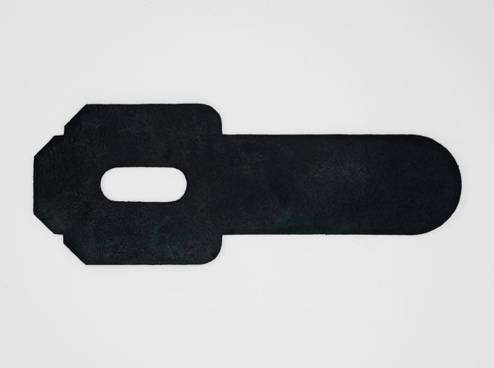 製品染めスペースブルー:パスケースの裏面