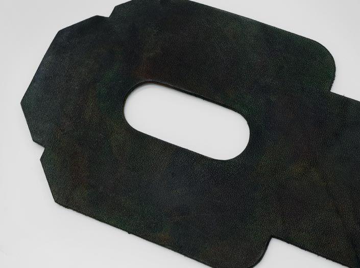 迷彩染めディープグリーン:パスケースのディテール