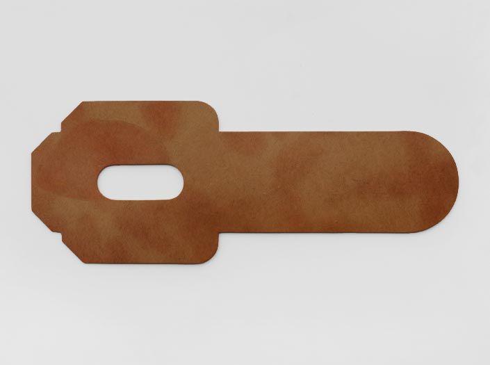 ハードレザー×斑模様ナチュラル:パスケースの表面