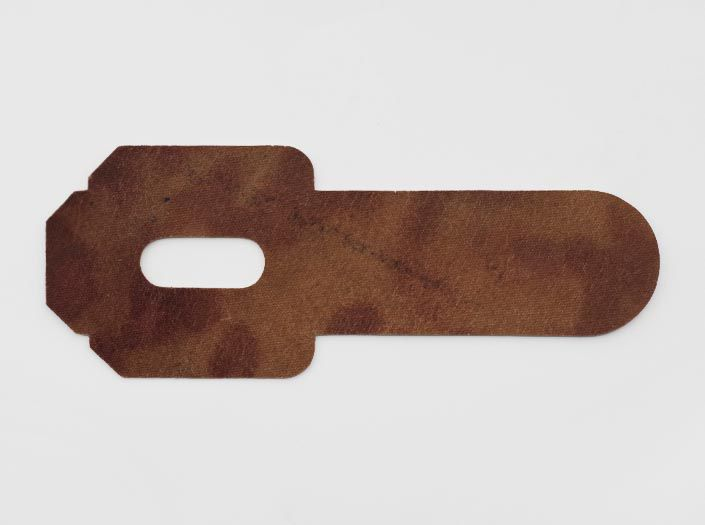 ハードレザー×斑模様ナチュラル:パスケースの裏面