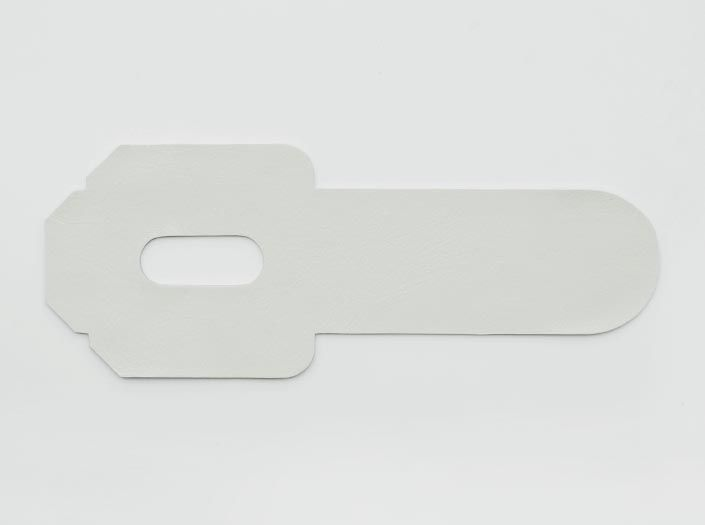 ホワイトレザー:パスケースの表面