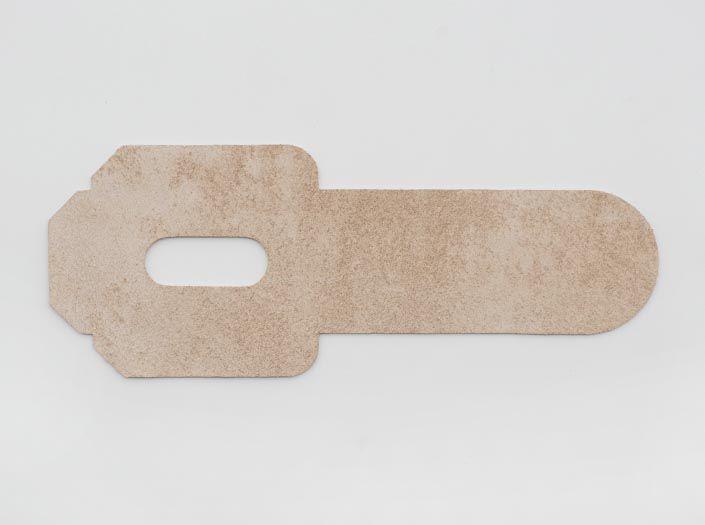 ヌメ革タンロー:パスケースの裏面